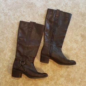 Lauren Ralph Lauren Calvina Leather Boots